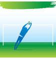 goal keeper jump to save goal vector image