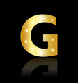 golden letter g shiny symbol vector image vector image