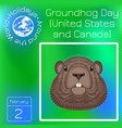 groundhog day national holiday in the usa and vector image vector image