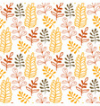 hand-drawn leaves background in autumn colors vector image vector image