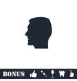 Head icon flat vector image vector image