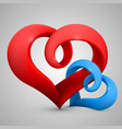 heart in the form of tape vector image