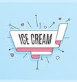 ice cream retro design element in pop art style vector image vector image