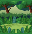 jungle landscape cartoon vector image