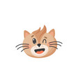 kitten head isolated cat emoji snout face portrait vector image vector image