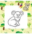 koala coloring page vector image vector image