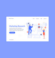 landing page marketing researh business team vector image