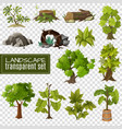 landscape design elements set vector image