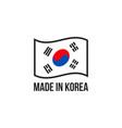 made in korea korean flag seal icon vector image vector image