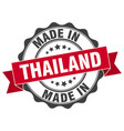 made in thailand round seal vector image
