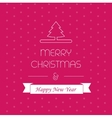 Merry christmass card greeting decor xmas vector image vector image