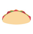 mexican burrito food vector image