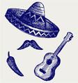 Mexican Symbols vector image vector image