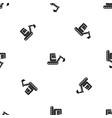 mini excavator pattern seamless black vector image vector image