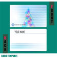 Modern christmas tree background triangle template vector image vector image