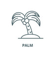 palm line icon linear concept outline vector image vector image