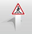 pedestrian crossing sign vector image vector image