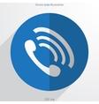 phone handse web flat icon vector image vector image