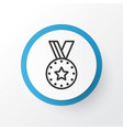 reward icon symbol premium quality isolated medal vector image vector image