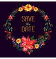 Save The Date Watercolor frame Flower and vector image vector image