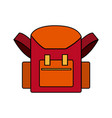 school bag back to school accessory vector image vector image