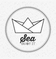sea concept design vector image vector image