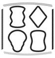 set brushes and frames rectangular shape vector image vector image