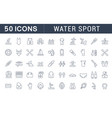 set line icons water sport vector image vector image