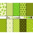 Set of 10 simple seamless patterns vector image