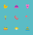 set of baby icons flat style symbols with doll vector image vector image