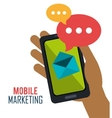 smartphone mobile marketing email vector image vector image