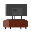 television over table vector image