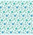 tender blue naive hand drawn floral pattern vector image vector image