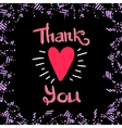 Thank You Frame Dark vector image