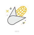 Thin line icons Corn vector image