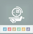 time for service vector image