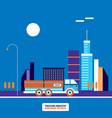 trucking industry truck transportation concept vector image