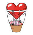 valentines gift box cartoon vector image