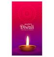 vibrant happy diwali festival greeting with diya vector image vector image