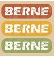 Vintage Berne stamp set vector image vector image