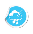 Weather forecast clouds lighting raindrop icon