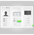 Web design elements inforgraphics vector image vector image