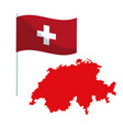 white background of welcome to switzerland with vector image