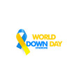 world down syndrome day genetic disorder 21 vector image