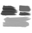 three brush strokes in black and gray vector image