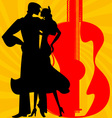 silhouette of flamenco dancers vector image