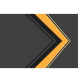 abstract yellow arrow direction overlap on grey vector image vector image