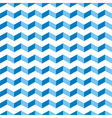 Aztec Chevron blue seamless zigzag pattern vector image
