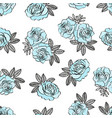 blue rose pattern wedding seamless pattern vector image