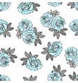 blue rose pattern wedding seamless pattern vector image